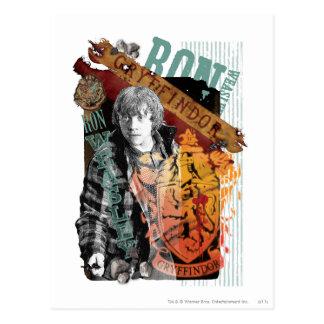 Carte Postale Collage 1 de Ron Weasley