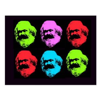 Carte Postale Collage de Karl Marx