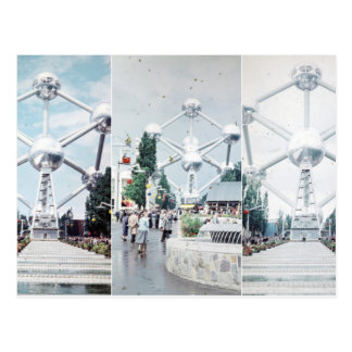 Carte Postale Collage de photo de Bruxelles Atomium