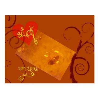 Carte Postale Collé en ambre