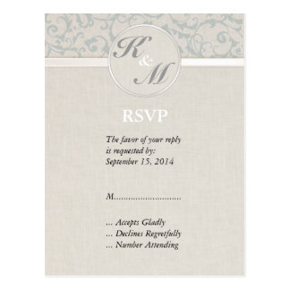 Carte Postale Collection de mariage de SmartElegance SeaSpray