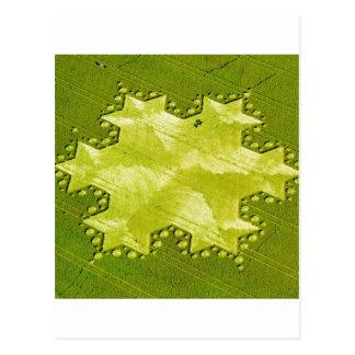 Carte Postale Colline 1997 de Silbury de flocon de neige de Koch