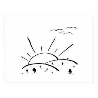 Carte Postale Collines de lever de soleil - ND