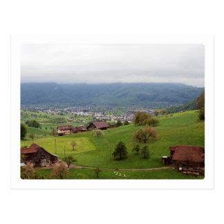 Carte Postale Collines suisses 1