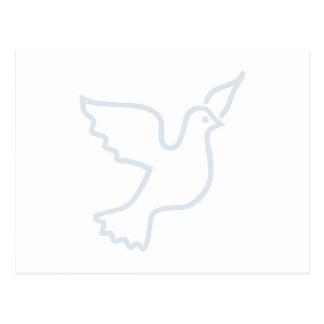 Carte Postale Colombe bleu-clair de paix