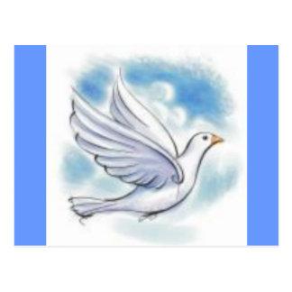 Carte Postale colombe de blanc