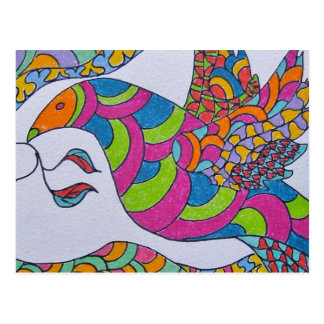 Carte Postale Colombe de paix