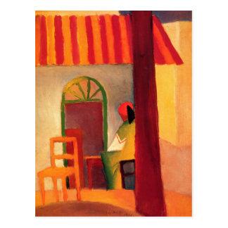 Carte postale colorée d'August Macke