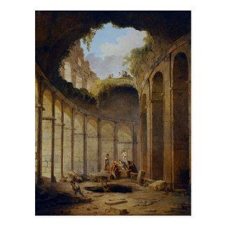 Carte Postale Colosseum, Rome par Hubert Robert