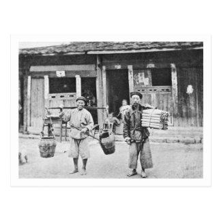 Carte Postale Colporteurs chinois, c.1870 (photo de b/w)