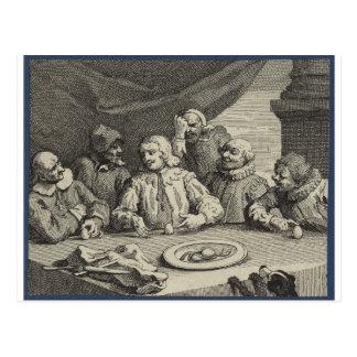 Carte Postale Columbus cassant l'oeuf (Christophe Colomb)