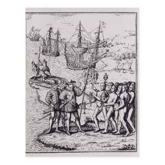 Carte Postale Columbus chez Hispaniola 2