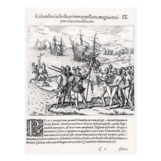 Carte Postale Columbus dans ce qui s'est appelé la première fois