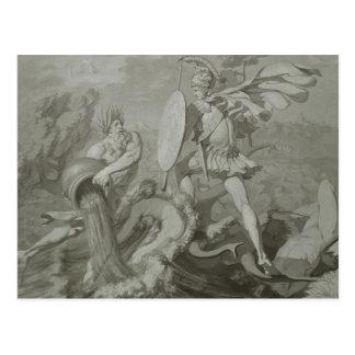 Carte Postale Combat d'Achille avec la rivière Scamander
