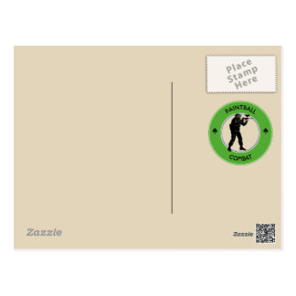 Carte Postale Combat de Paintball