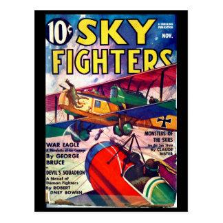 Carte Postale Combattants de ciel - novembre 1937 art d'a_Pulp