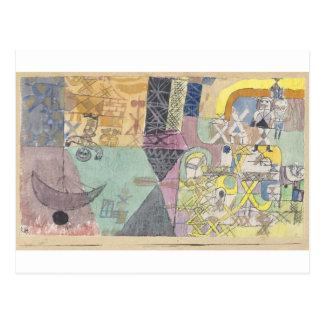 Carte Postale Comiques asiatiques par Paul Klee