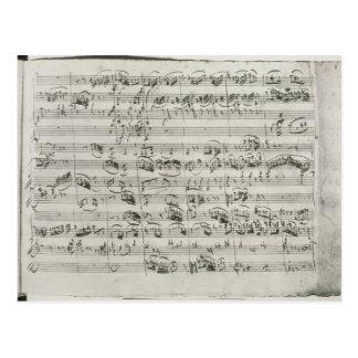 Carte Postale Commandant de G pour le violon, le clavecin et le