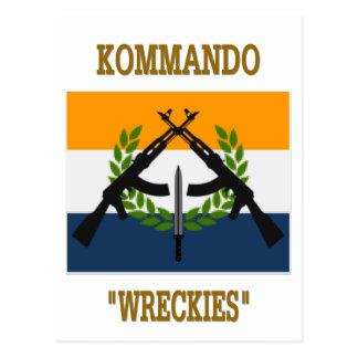 CARTE POSTALE COMMANDOS SUD-AFRICAINS