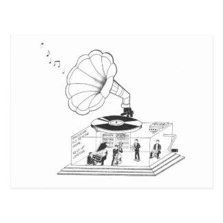 Carte Postale Comment est-ce qu'un phonographe fonctionne