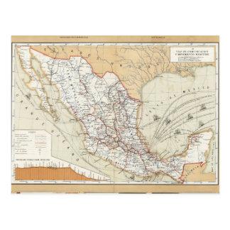 Carte Postale Communication et transport du Mexique