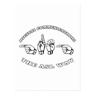 CARTE POSTALE COMMUNICATIONS NUMÉRIQUES DE GREG ASL
