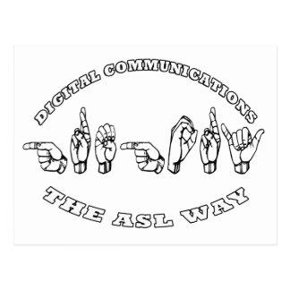Carte Postale COMMUNICATIONS NUMÉRIQUES de Gregory ASL