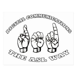 CARTE POSTALE COMMUNICATIONS NUMÉRIQUES ROUGES D'ASL