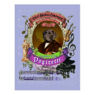 Carte Postale Compositeur animal Donizetti de chien de Gaetano