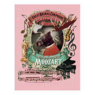 Carte Postale Compositeur d'animal d'orignaux de Wolfgang