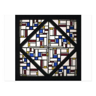 Carte Postale Composition avec la fenêtre avec le verre coloré