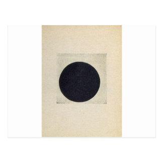 Carte Postale Composition avec un cercle noir par Kazimir