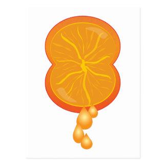 Carte Postale Compression orange