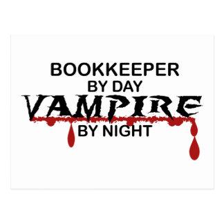 Carte Postale Comptable par jour, vampire par nuit