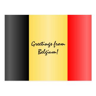Carte Postale Conception belge personnalisée de drapeau