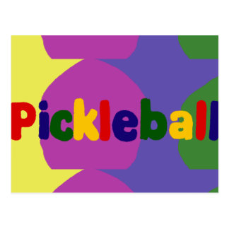 Carte Postale Conception colorée d'art de lettres de Pickleball