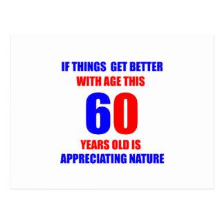 Carte Postale Conception de 60 anniversaires