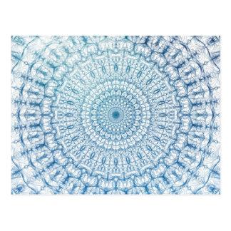 Carte Postale Conception de Bohème de fractale de bleu de ciel
