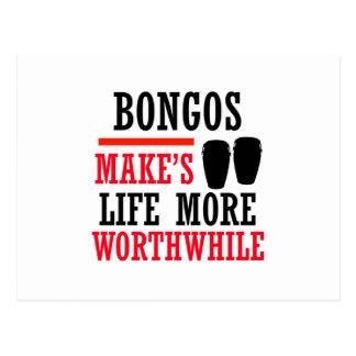 Carte Postale conception de bongos