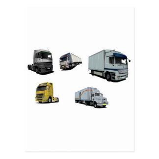 Carte Postale Conception de camions de transport