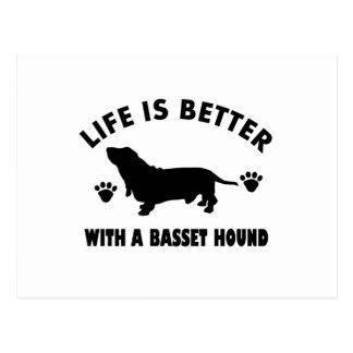 Carte Postale conception de chien de chasse de basset