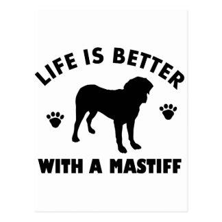 Carte Postale Conception de chien de mastiff