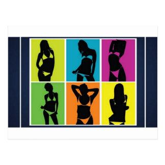 Carte Postale Conception de filles de bikini