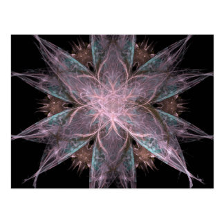 Carte Postale Conception de fleur de fractale