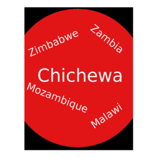 Carte Postale Conception de langue de Chichewa