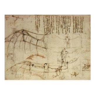 Carte Postale Conception de Leonardo DA Vinci- pour une machine