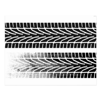 Carte Postale Conception de marques de pneu