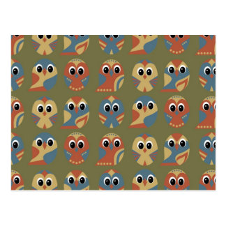 Carte Postale Conception de motif de hibou