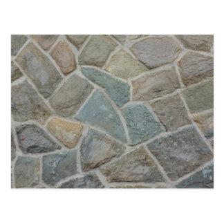 Carte Postale Conception de mur en pierre