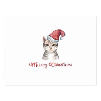 Carte Postale Conception de Noël de Meowy pour des amoureux de